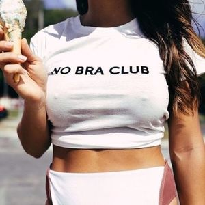 Tops - NEW White No Bra Club Tee
